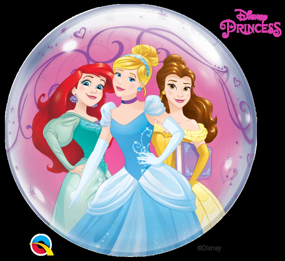 """Bubble balons """"Disney princesses"""", apaļš, 56 cm"""