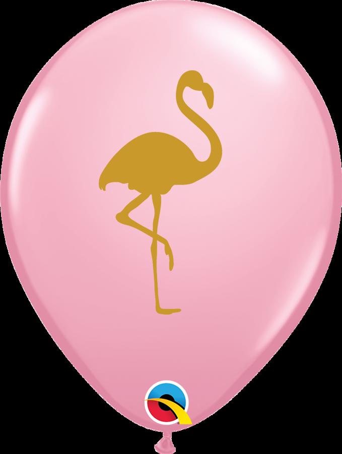 "28 cm lateksa balons ""Zelta flamingo"", rozā krāsa - 1 gb."
