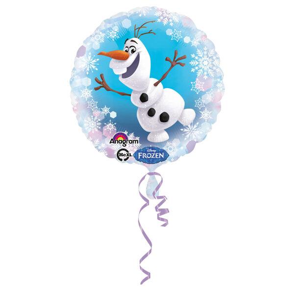 "Folija balons ""Frozen - Olafs"", apaļš, 43 cm"