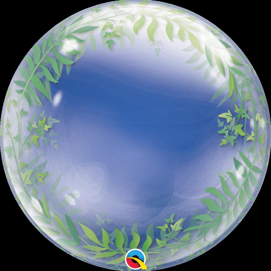 """Bubble balons """"Elegant Greenery"""", apaļš, 56 cm"""