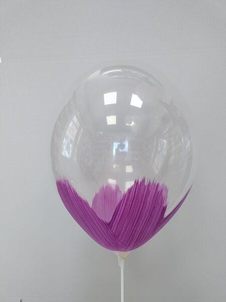 BRUSH baloni 30cm, violetā krāsā