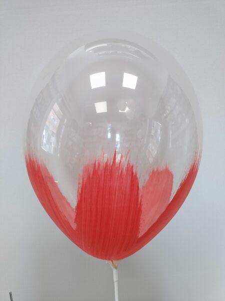 BRUSH baloni 30cm, sarkanā krāsā