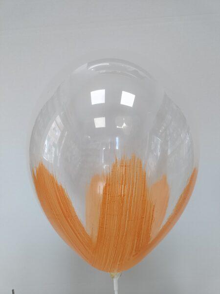 BRUSH baloni 30cm, oranžā krāsā