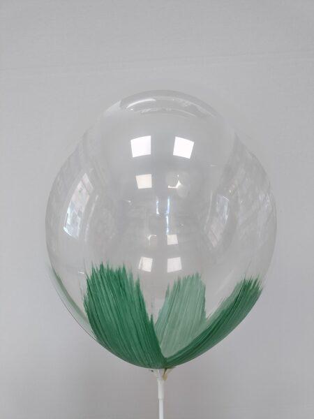 BRUSH baloni 30cm, tumši zaļā krāsā