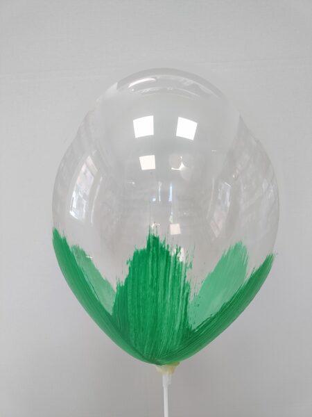 BRUSH baloni 30cm, zaļā krāsā