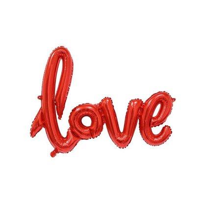 """Piepūšamais folija uzraksts """"love"""", sarkanā krāsa, 68 cm"""