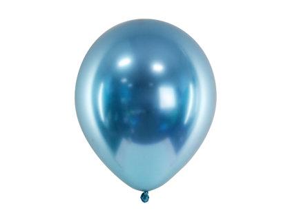 30 cm hromēts balons, zilā krāsa - 1 gb.