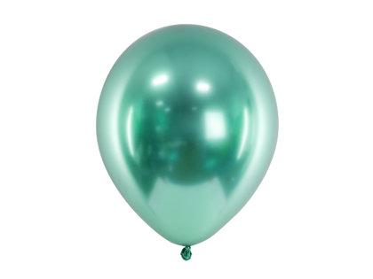 30 cm hromēts balons, zaļā krāsa - 1 gb.