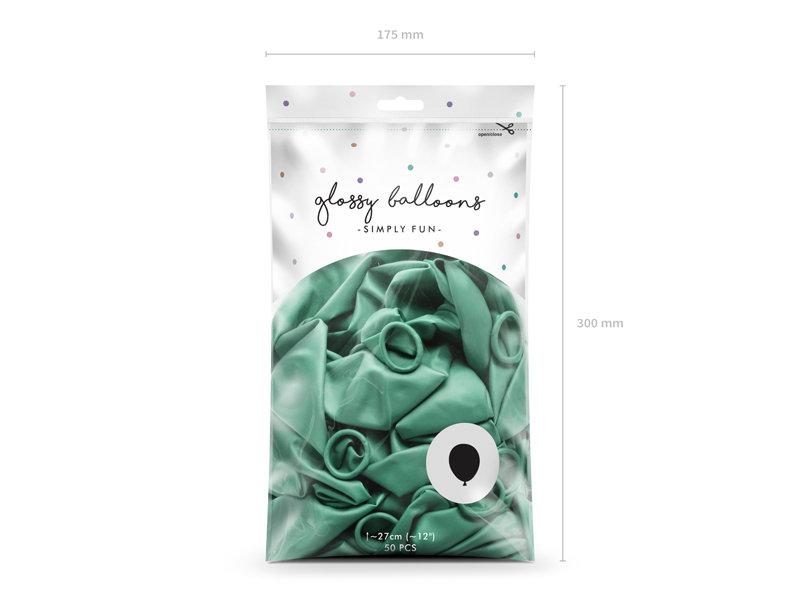 Balonu iepakojums, HROMS, 50 gb., 30 cm, zaļā krāsa