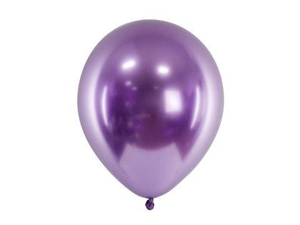 30 cm hromēts balons, violetā krāsa - 1 gb.
