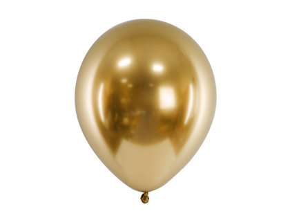 30 cm hromēts balons, zelta krāsa - 1 gb.