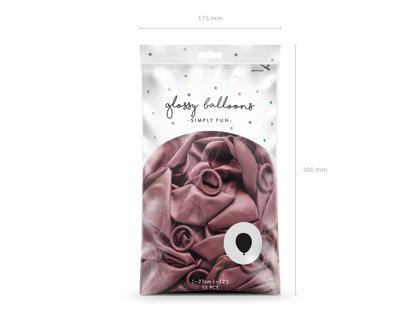 Balonu iepakojums, HROMS, 50 gb., 30 cm, rozā krāsa