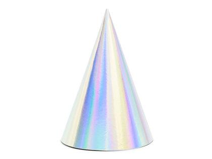 Papīra cepures, zaigojoša krāsa, 6 gb