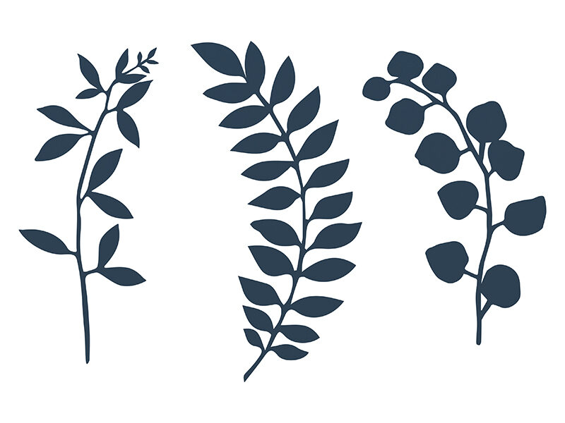 Papīra zariņi tumši zilā krāsā, 3 veidi pa 3 gb