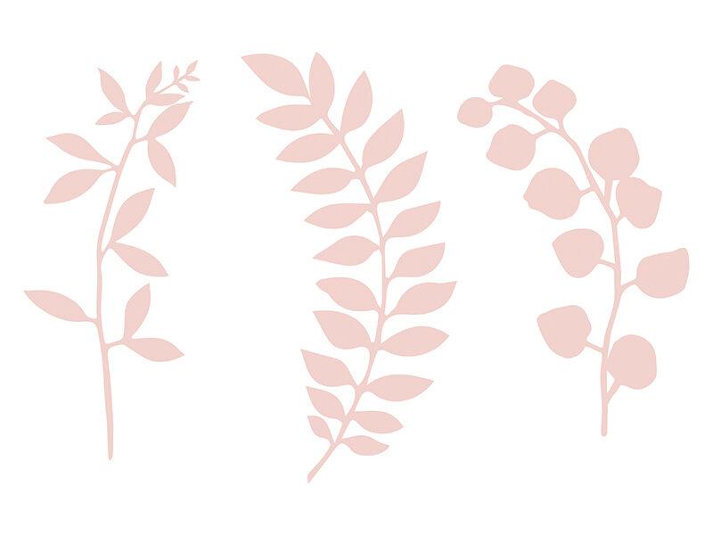 Papīra zariņi pūderu rozā krāsā, 3 veidi pa 3 gb