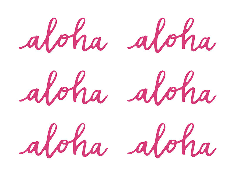 """Papīra dekorācijas """"Aloha"""""""