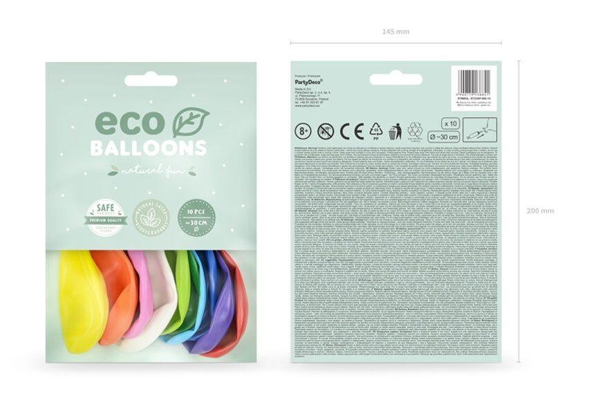 ECO balonu iepakojums, 10 gb., 30 cm, krāsaini