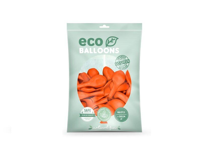 """Balonu iepakojums """"Eco"""", 100 gb., 30 cm, oranžā krāsa"""