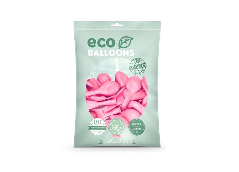 """Balonu iepakojums """"Eco"""", 100 gb., 30 cm, gaiši rozā krāsa"""