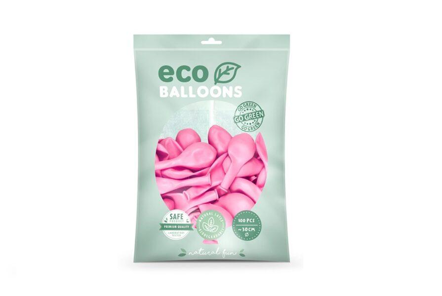 """Balonu iepakojums """"Eco"""", 100 gb., 30 cm,  rozā krāsa"""