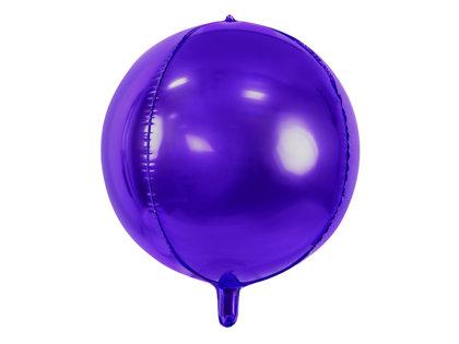 Folija balons, apaļš, 40 cm, violetā krāsa
