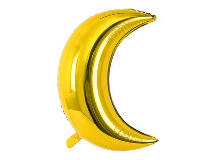 """Folija balons """"Mēness"""", 60 cm, zelta krāsa - 1 gb."""