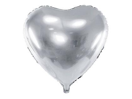 """Folija balons """"sirds"""", 45 cm, sudraba krāsa"""