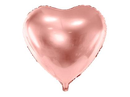 """Folija balons """"sirds"""", 45 cm, rozā zelts"""