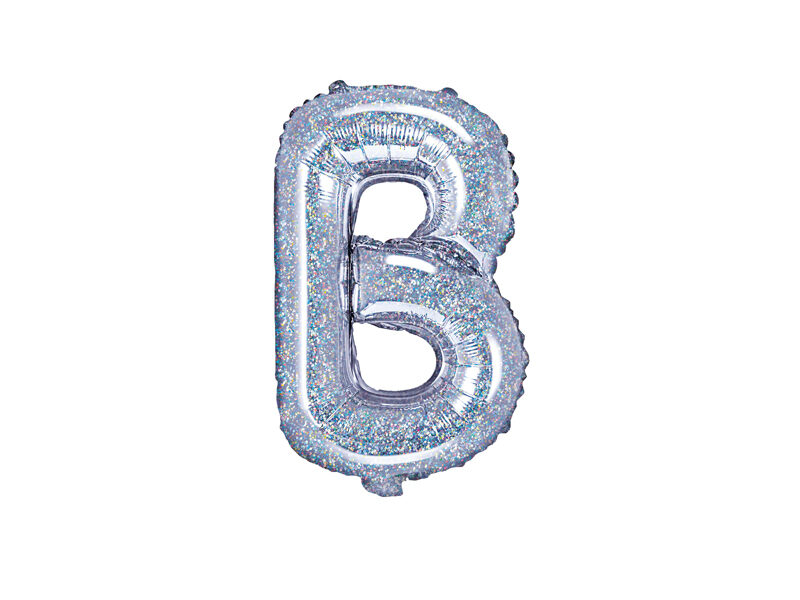 """Folija burts """"B"""", 35 cm, hologrāfiskais"""