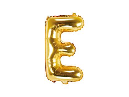 """Folija burts """"E"""", 35 cm, zelta krāsa"""