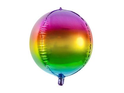 """Folija balons """"Varavīksnes bumba"""", apaļš, 40 cm"""