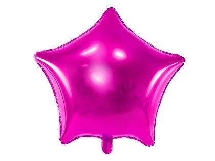 """Folija balons """"zvaigzne"""", 48 cm, fuksijas krāsa"""
