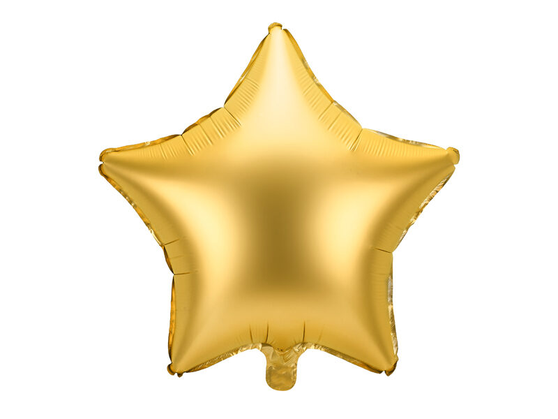 """Matēts folija balons """"zvaigzne"""", 48 cm, zelta krāsa"""