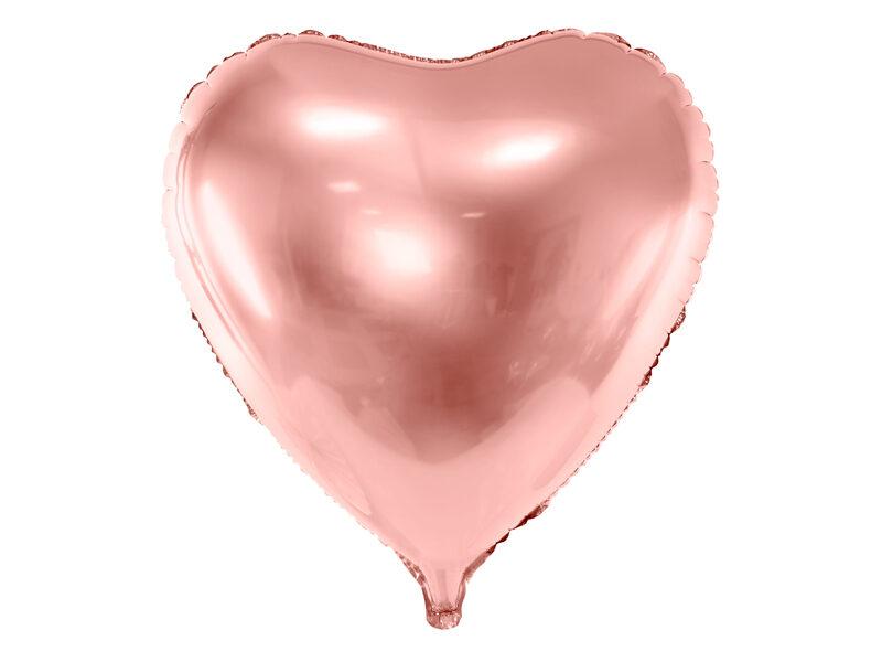"""Folija balons """"sirds"""", 72x73 cm, rozā zelts"""