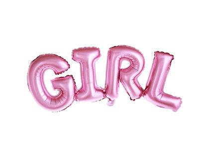 """Piepūšamais folija uzraksts """"GIRL"""", rozā krāsa, 74x33cm"""