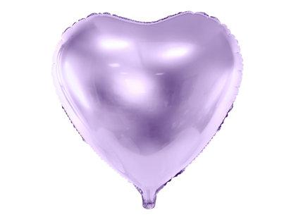 """Folija balons """"sirds"""", 45 cm, gaiši lillā krāsa"""