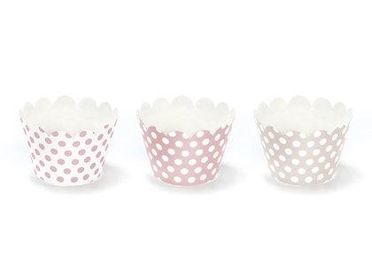Kūku ietinamais papīrs rozā ar baltu