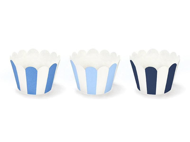 Kūku ietinamais papīrs zils ar baltu