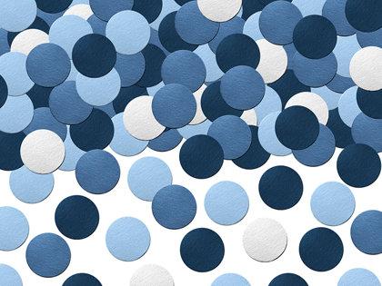 Konfetti aplīši, zilā krāsā