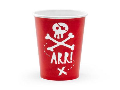"""Glāzes """"Pirāti"""", 6 gb., 220 ml"""
