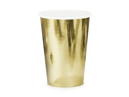 Glāzes zeltā krāsā, 6 gb., 220 ml