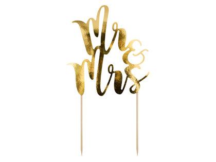 "Kūkas toperis ""Mr & Mrs"", zelta"