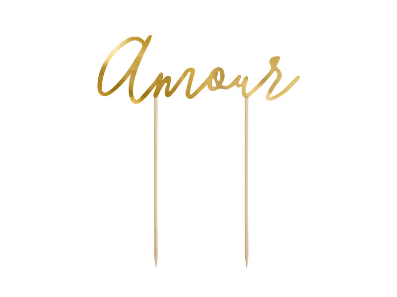 "Kūku toperis ""Amour"", zelta krāsa"