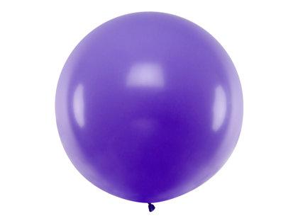 1 m balons, apaļš, lavandas krāsa - 1 gb.