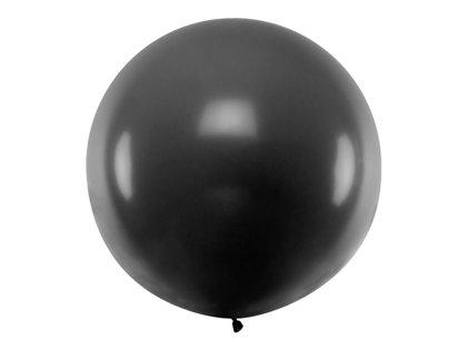 1 m balons, apaļš, melnā krāsa - 1 gb.