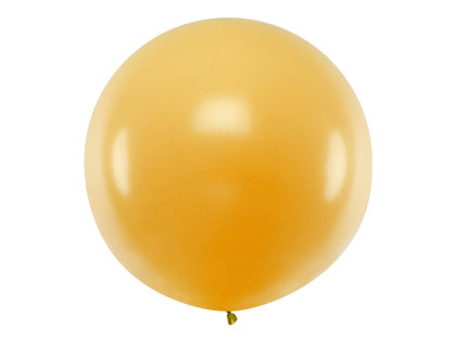 1 m balons, apaļš, zeltā krāsa - 1 gb.