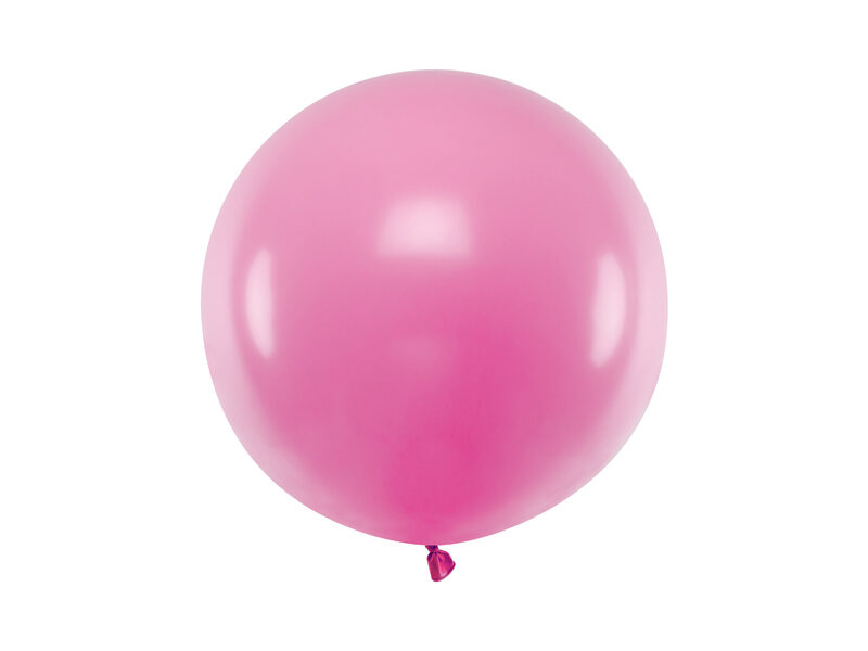 60 cm lateksa balons, gaiša fuksijas krāsa, pastelis - 1 gb.
