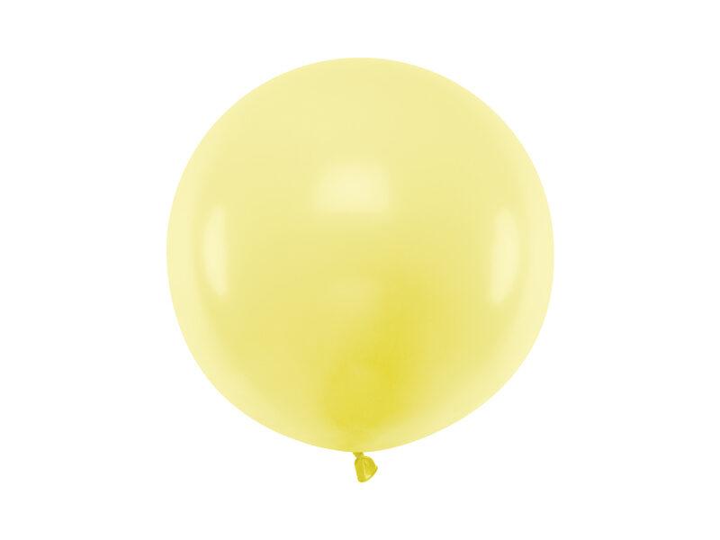 60 cm lateksa balons, maigi dzeltenā krāsa, pastelis - 1 gb.
