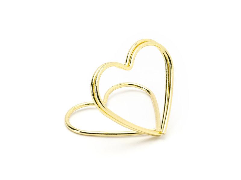 """Kartiņas turētājs """"Sirds"""", zelta krāsā"""