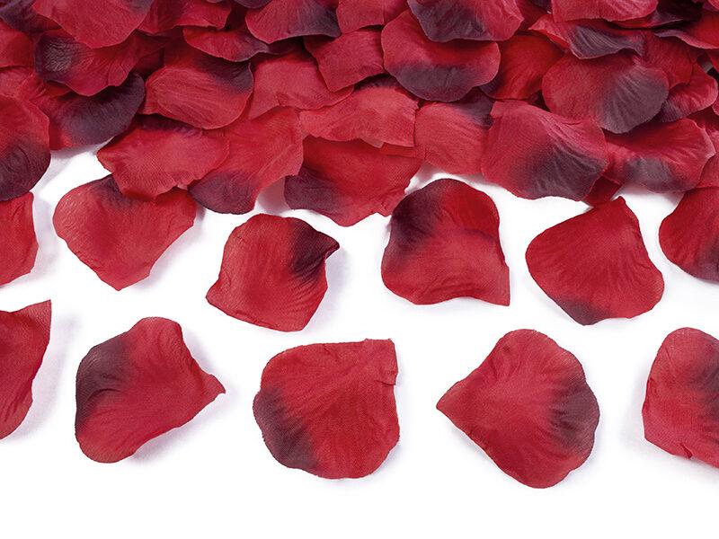 Ziedlapiņas, sarkanā un bordo krāsa, 100 gb